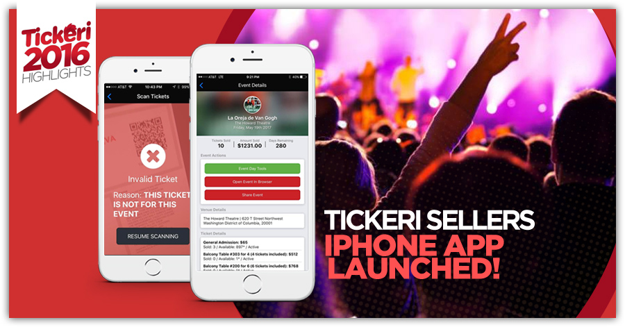 Tickeri Seller iPhone App